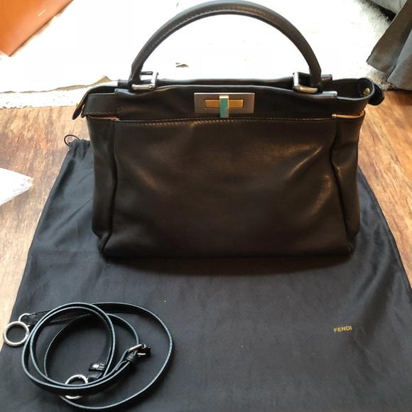 Fendi Handbags - ❌sold❌Fendi regular (medium) peekaboo- Black Nappa